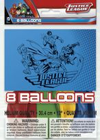 "Justice League 12"" Latex Balloons (8)"